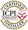 Certified Installer from the Interlocking Concrete Pavement Institute